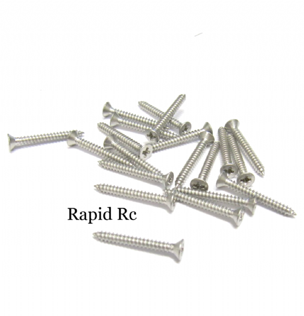 Stainless steel A2 Counter Sunk  Phillips Head Self Tapping screw 2.2mm x 19mm